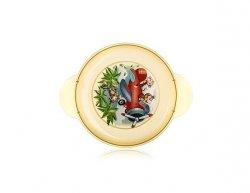 BANQUET Dětský plastový mělký talíř 234x183x24 mm, motiv: Monkey