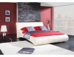 Bílá čalouněná postel Huron, 180x200 cm