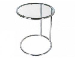 Chromovaný kulatý konferenční stolek Leitmotiv TN646
