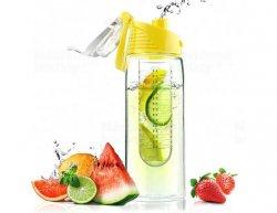 Designová fresh láhev s infuserem ASOBU Flavour It žlutá 600ml
