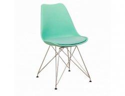 Designová židle METAL, mentolová