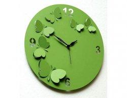 Designové hodiny D&D 206 Meridiana, světle zelený lak