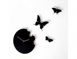 Designové hodiny Diamantini a Domeniconi Butterfly black 40cm