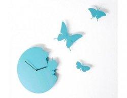 Designové hodiny Diamantini a Domeniconi Butterfly sky blue 40cm
