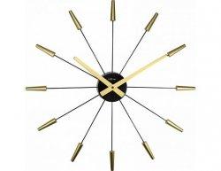 Designové nástěnné hodiny 2610go Nextime Plug Inn gold 60cm