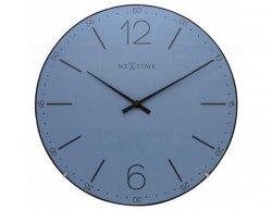 Designové nástěnné hodiny 3159bl Nextime Index Dome 35cm