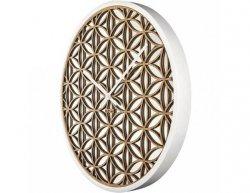 Designové nástěnné hodiny 3194wi Nextime Bella Mirror 50cm