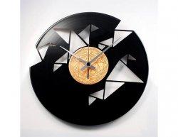 Designové nástěnné hodiny Discoclock 077 Origami 30cm