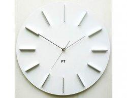 Designové nástěnné hodiny Future Time FT2010WH Round white 40cm
