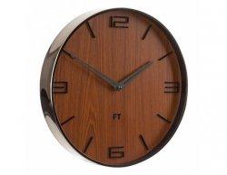 Designové nástěnné hodiny Future Time FT3010TT Flat walnut 30cm