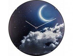 Designové nástěnné luminiscenční hodiny Nextime 3177 New Moon 35cm