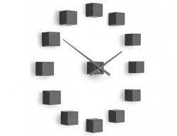 Designové nástěnné nalepovací hodiny Future Time FT3000TT Cubic titanium