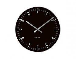 Designové stolní i nástěnné hodiny 5615BK Karlsson 17cm