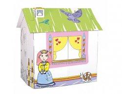 Kartonový domek pro princeznu