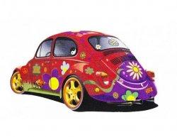 Koberec VW Brouk Beetle červený