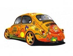 Koberec VW Brouk Beetle žlutý