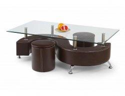 Konferenční stůl Nina 3H tmavě hnědý