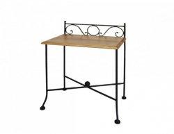 Kovaný noční stolek s masivní deskou ROMANTIC 0420C