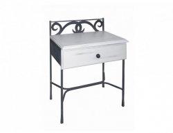 Kovaný noční stolek se zásuvkou GRANADA 0413A
