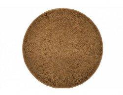 Kulatý koberec Elite Shaggy světle hnědý, 120 cm