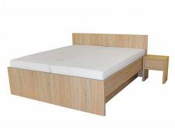 Moderní postel s plným čelem Tropea
