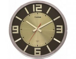 Nástěnné hodiny Twins 2361 wenge wood 32cm