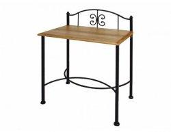 Noční stolek z masivu ELBA 0436 s kovanými prvky