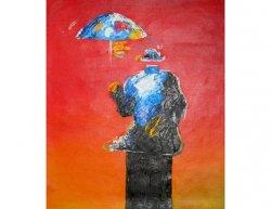 Obraz - Člověk s dešníkem