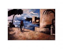 Obraz - Cyklista u moře