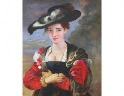 Obraz - Dáma s kloboukem