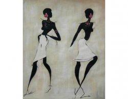 Obraz - Dvě tmavé ženy