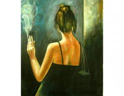 Obraz - Kouřící žena