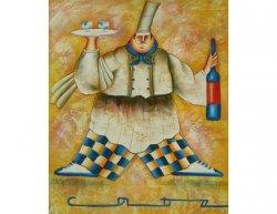 Obraz - Kuchař při těle