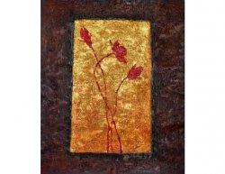 Obraz - Květy ve zlatě