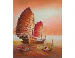 Obraz - Loď při západu slunce