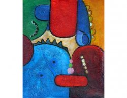 Obraz - Modrý sněhulák