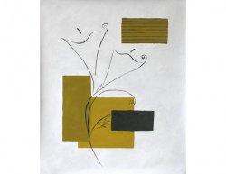 Obraz - Obrys dvou květů