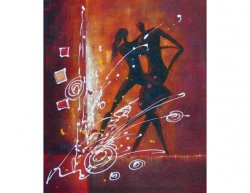 Obraz - Ohňostroj tance
