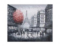 Obraz - Paříž s červeným stromem