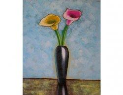 Obraz - Růžový a žlutý květ