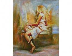 Obraz - Sedící dívka