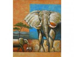 Obraz - Sloni v Africe