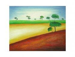 Obraz - Stromy v poli