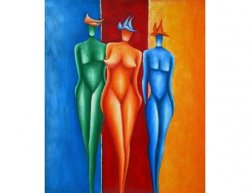 Obraz - Tři barevné ženy