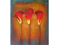 Obraz - Tři zavité květy