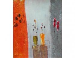 Obraz - Vázy na barevné zdi
