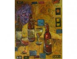 Obraz - Zátiší dávné víno
