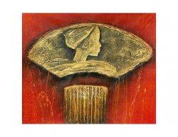 Obraz - Zlatá hlava na podstavci