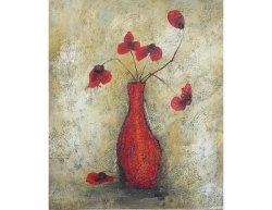 Obraz - Zvadlé červené květy