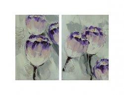 Obrazový set - Fialové tulipány